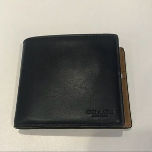 Authentic Coach Men's Bifold Leather Wallet